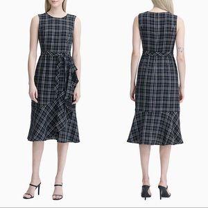 Calvin Klein Ruffle Tie Front Dress